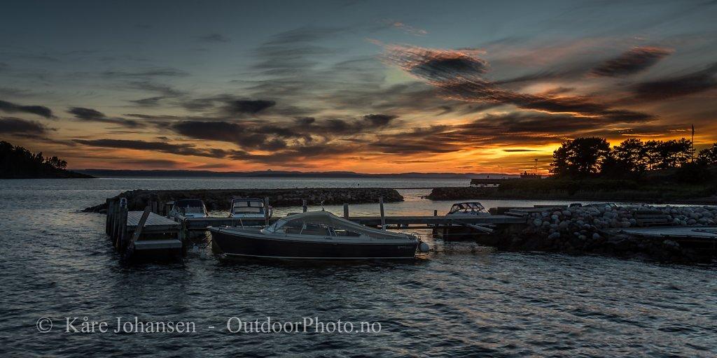 Solnedgang i Larkollen