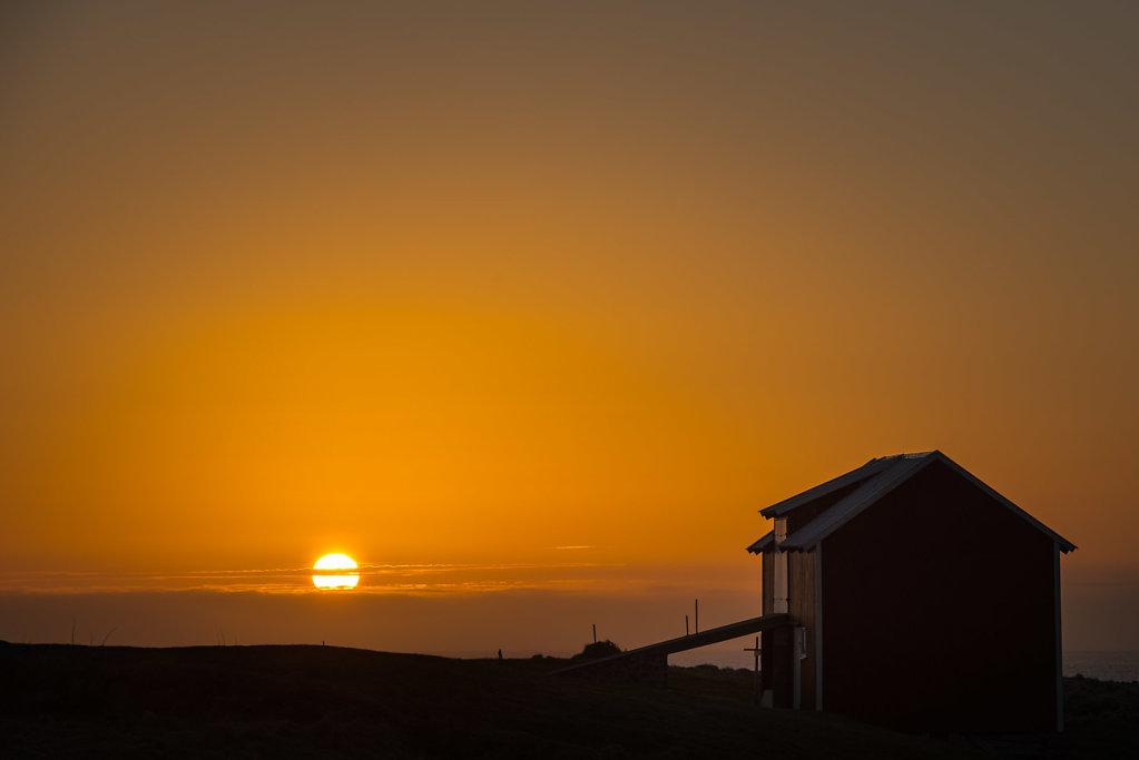 Solnedgang på Nykvåg.